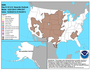 Composite Image of Day 8-14 Hazards Outlook